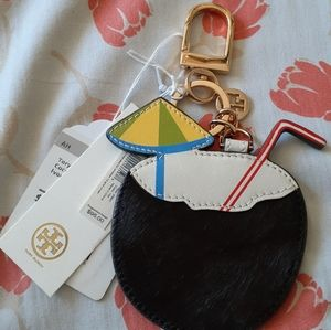 Tory Burch-Coconut Key FOB-NEW WITH TAGS